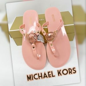 Michael Kors NWT Peach and Gold Summer Sandals
